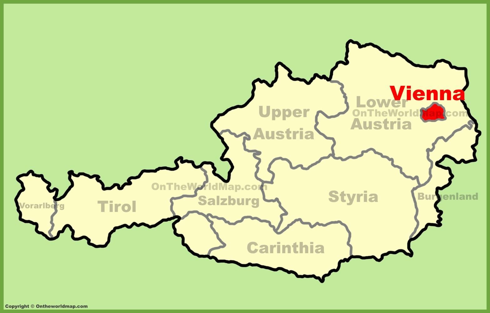 Wien Osterrike Kart Wien Osterrike Kart Osterrike