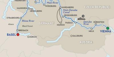 kart over donau Wien kart   Kart Wien (Østerrike) kart over donau