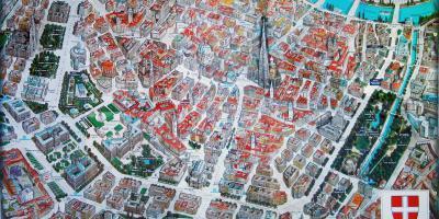 kart over wien Wien kart   Kart Wien (Østerrike) kart over wien